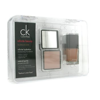 Calvin Klein-Infinite Beauty Set - For Deep Skin Tones ( Foundation # 106, Pressed Powder # 102 )