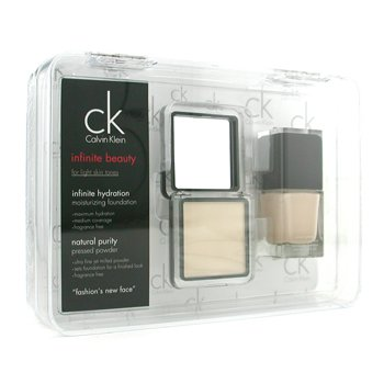 Calvin Klein-Infinite Beauty Set - For Light Skin Tones ( Foundation # 113, Pressed Powder # 106 )