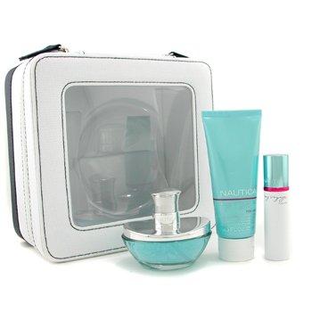 Nautica-My Voyage Coffret: Eau De Parfum Spray 50ml/1.7oz + Body Lotion 75ml/2.5oz + Purse Spray+Bag