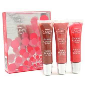 Clarins-Colour Quench Favourites Lip Balm Trio ( #02 Maple, #03 Strawberry, #04 Watermelon )