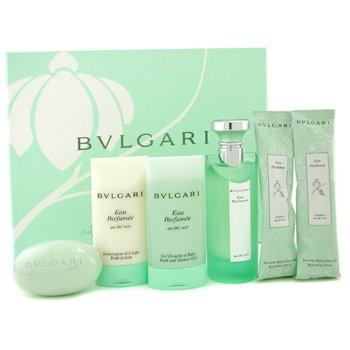 Bvlgari-Eau Parfumee Coffret ( Green Box ): Edc Spray 75ml/2.5oz+ Shower Gel 75ml/2.5oz+ Body Lotion 75ml/2.5oz+ Soap 75g/2.6oz+ 2x Towel