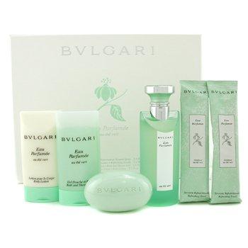 Bvlgari-Eau Parfumee Coffret ( White Box ): Edc Spray 75ml/2.5oz+ Shower Gel 75ml/2.5oz+ Body Lotion 75ml/2.5oz+ Soap 75g/2.6oz+ 2x Towel