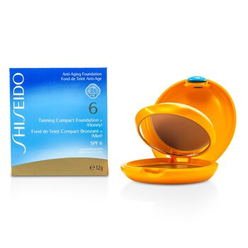Shiseido Tanning Base Maquillaje Compacta Bronceadora N SPF6 - Honey  12g/0.4oz