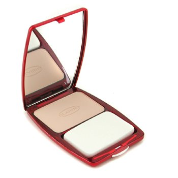 Clarins-Express Compact Foundation Wet/ Dry - # 02 Porcelain Beige ( Unboxed )