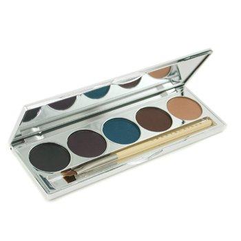 Chantecaille-Eye Define Palette - Les Bijoux ( 5x Eye Liner Shadow + Eye Liner Brush )