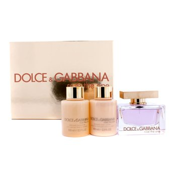 Dolce & Gabbana Rose The One Coffret: Eau De Parfum Spray 75ml/2.5oz + Body Lotion 100ml/3.3oz + Shower Gel 100ml/3.3oz  3pcs