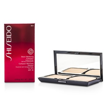 Shiseido-Sheer Matifying Compact Oil Free SPF10 - # B20 Natural Light Beige