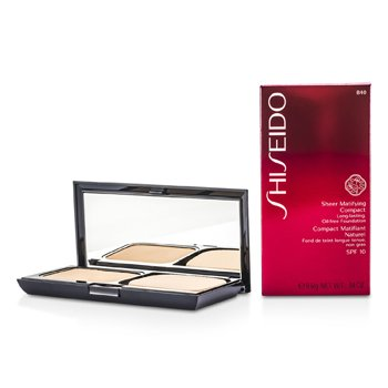 Shiseido-Sheer Matifying Compact Oil Free SPF10 - # B40 Natural Fair Beige