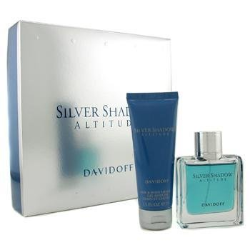 Davidoff Silver Shadow Attitude Coffret: Eau De Toilette Spray 50ml/1.7oz + Hair & Body Shampoo75ml/2.5oz 2pcs