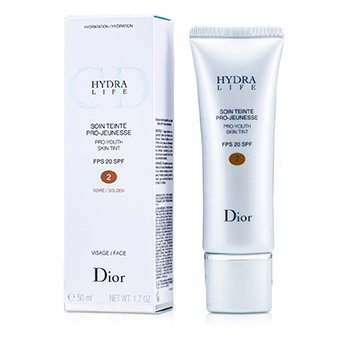 Christian DiorHydra Life Pro-Youth Skin Tint  Hidratante con Color SPF 20 - # 002 Golden 50ml/1.7oz
