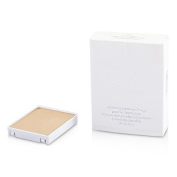 Calvin Klein Pure White Treatment 2 Way Powder Foundation SPF 20 - # 301 Fair Ocher  10g/0.35oz