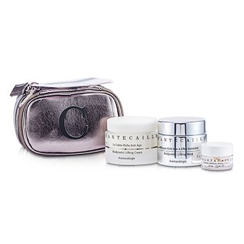 Chantecaille Biodynamic Lifting Set: Lifting Cream 50ml/1.7oz + Lifting Mask 50ml/1.7oz + Acid Mask 10ml/0.34oz  3pcs+1bag