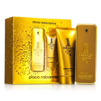 Paco RabanneOne Million Edici�n de Viaje Especial Coffret: Eau De Toilette Spray 100ml/3.4oz + Gel de Ducha 100ml/3.4oz 2pcs