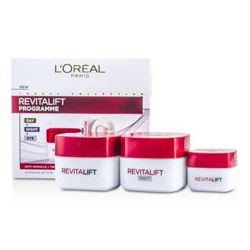 L`Oreal Revital Lift Programme: Day Cream + Eye Cream + Night Cream 3pcs