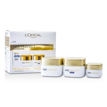 L`Oreal Age Perfect Programme: Day Cream + Eye Cream + Night Cream 3pcs