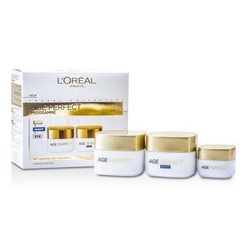 L`Oreal Age Perfect Programme: Day Cream + Eye Cream + Night Cream 3pcs