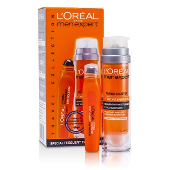 L'Oreal Set Men Expert: Hydra Energetic Turbo Estimulante + Ice Cool Rollon de Ojos  2pcs