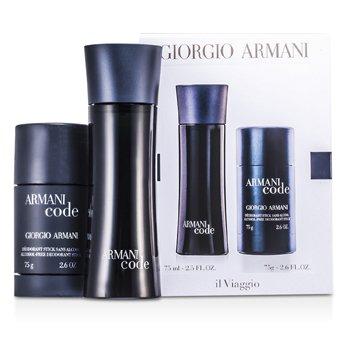 Giorgio Armani Armani Code Coffret: Eau De Toilette Spray 75ml + Desodorante en Barra 75g  2pcs