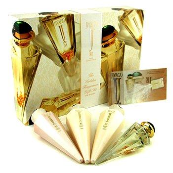Jivago 24K Coffret: Eau De Parfum Spray 50ml/1.7oz + Body Lotion 125ml/4.2oz + Body Cream 125ml/4.2oz + Shower Gel 125ml/4.2oz 4pcs