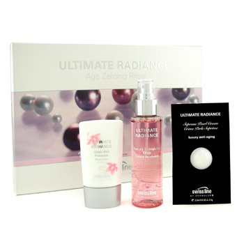 Swissline Ultimate Radiance Set: Elixir 100ml/3.38oz + Pearl Cream 2.5ml/0.05oz + Day Protector 45ml/1.8oz  3pcs