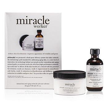 Miracle Worker Набор: Антивозрастное Средство 60мл/2унц + Диски 60шт 60pads от Strawberrynet