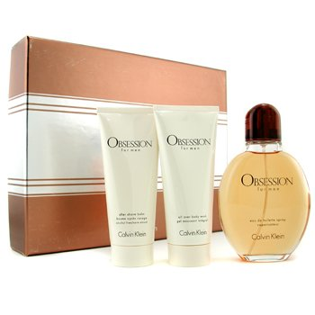 Calvin KleinObsession Coffret: Eau De Toilette Spray 125ml/4oz + Body Wash 100ml/3.4oz + After Shave Balm 100ml/3.4oz 3pcs