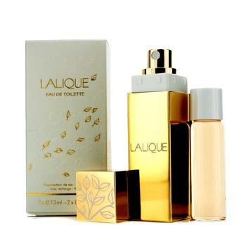 Lalique Eau De Toilette Purse Spray with Refill  2x15ml/0.5oz