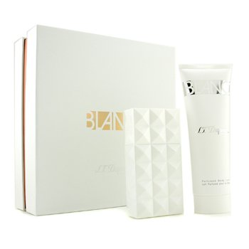 S. T. Dupont Blanc Coffret: Eau De Parfum Spray 50ml/1.7oz+ Body Lotion 100ml/3.3oz  2pcs