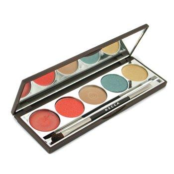 Becca Bombora Paleta ( Crema Iluminadora + 2x  Delineador Compacto Ojos + Crema Labios y Mejillas  + Brillo Labial + Pincel Ojos)  -