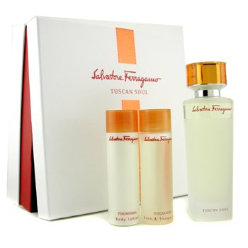 Salvatore Ferragamo Tuscan Soul Coffret: Edt Spray 125ml/4.2oz + Body Lotion 75ml/2.5oz + Shower Gel 75ml/2.5oz  3pcs