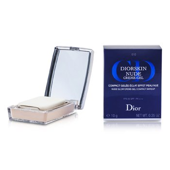 Christian Dior Diorskin Nude Natural Glow Creme Gel Compact Makeup SPF20 - # 010 Ivory  10g/0.35oz