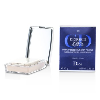 Christian Dior Diorskin Nude Natural Glow Creme Gel Compact Makeup SPF20 - # 020 Light Beige  10g/0.35oz