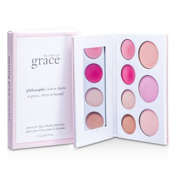 Philosophy Amazing Glaze Coloring Book (1x Shimmer Face Powder  1x Blush  1x Illuminator  2x Lipgloss  2x E/Shadow) 8.12g/0.29oz