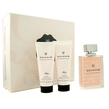 David Beckham Signature Story For Her Coffret: Edt Spray 75ml/2.5oz + Body Lotion 75ml/2.5oz + Shower Gel 75ml/2.5oz  3pcs