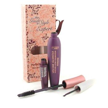 MakeUp SetBourjois Petit Guide De Style Expert Perfectly Matched Mascara & Liquid Liner - # 2 Mauve Fantastique 2pcs