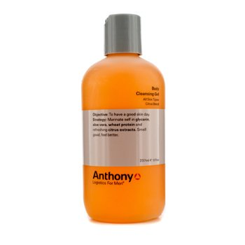 AnthonyLogistics For Men Gel Limpiador Corporal- Citrus 237ml/8oz
