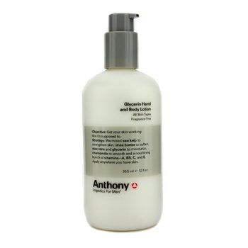 Anthony Logistics For Men Glycerin Hand & Body Lotion  355ml/12oz