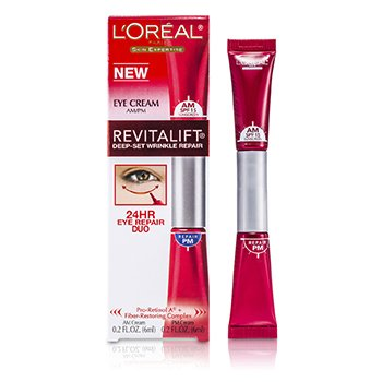 L'OrealRevitalift (Advanced) Deep-Set Wrinkle 24 Hours Eye Repair Duo 2x6ml/0.2oz