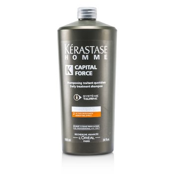 KerastaseHomme Capital Force Daily Treatment Shampoo (Densifying Effect) 1000ml/34oz