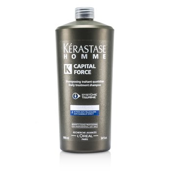 KerastaseHomme Capital Force Daily Treatment Shampoo (Anti-Dandruff Effect) 1000ml/34oz