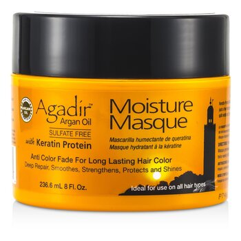 Agadir Argan Oil Keratin Protein Moisture Masque (Anti Color Fade For Long Lasting Hair Color  Ideal For Use on All Hair Types) 236.6ml/8oz