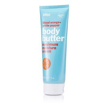 BlissCreme Blood Orange + White Pepper Body Butter 200ml/6.7oz
