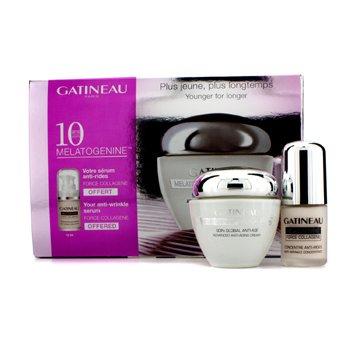 Gatineau 10th Anniversary Set: Melatogenine Futur Plus Cream 50ml/1.7oz + Melatogenine Force Collagene Serum 15ml/0.5oz  2pcs
