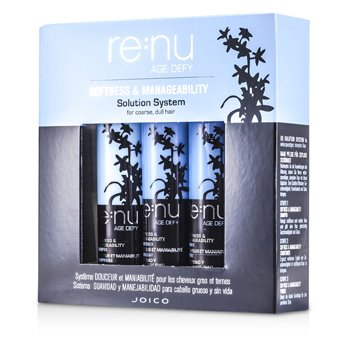 Re:nu Age DefySoftness & Manageability Solution System (For Coarse, Dull Hair): Shampoo + Conditioner + Primer 3pcs