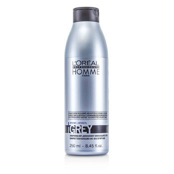 L'Oreal Professionnel Homme Grey sampon  250ml/8.45oz