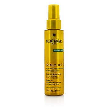 Rene Furterer Solaire After Sun Leave-In Moisturizing Spray with Jojoba Wax (For Damaged Hair)  100ml/3.38oz