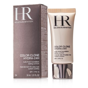 Helena Rubinstein Color Clone Hydra 24H Base Maquillaje Acabado Nude SPF 15 - # 24 Gold Caramel  30ml/1oz