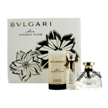 BvlgariMon Jasmin Noir Coffret: Eau De Parfum Spray 50ml/1.7oz + Eau De Parfum Spray 10ml/0.34oz + Gel de Ducha 75ml/2.5oz 3pcs