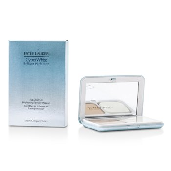 Estee Lauder CyberWhite Brilliant Perfection Full Spectrum Brightening Powder Makeup SPF25 (Case + Refill) - # 01 Cool Porcelain  10g/0.35oz