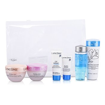 Lancome Travel Set: Bi Facil + Galateis Douceur + Cream Gel + Cream + Eye Cream + UV Expert  6pcs